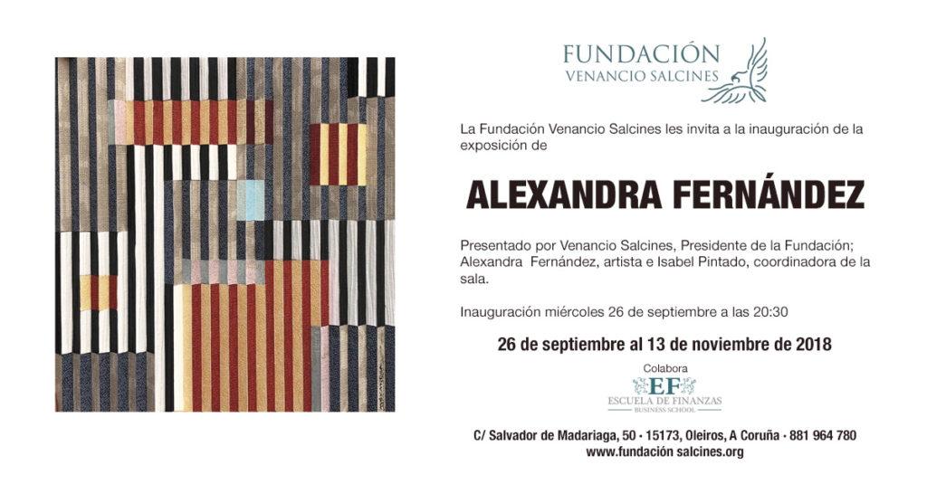 Cartel Exposición Alexandra Fernandez